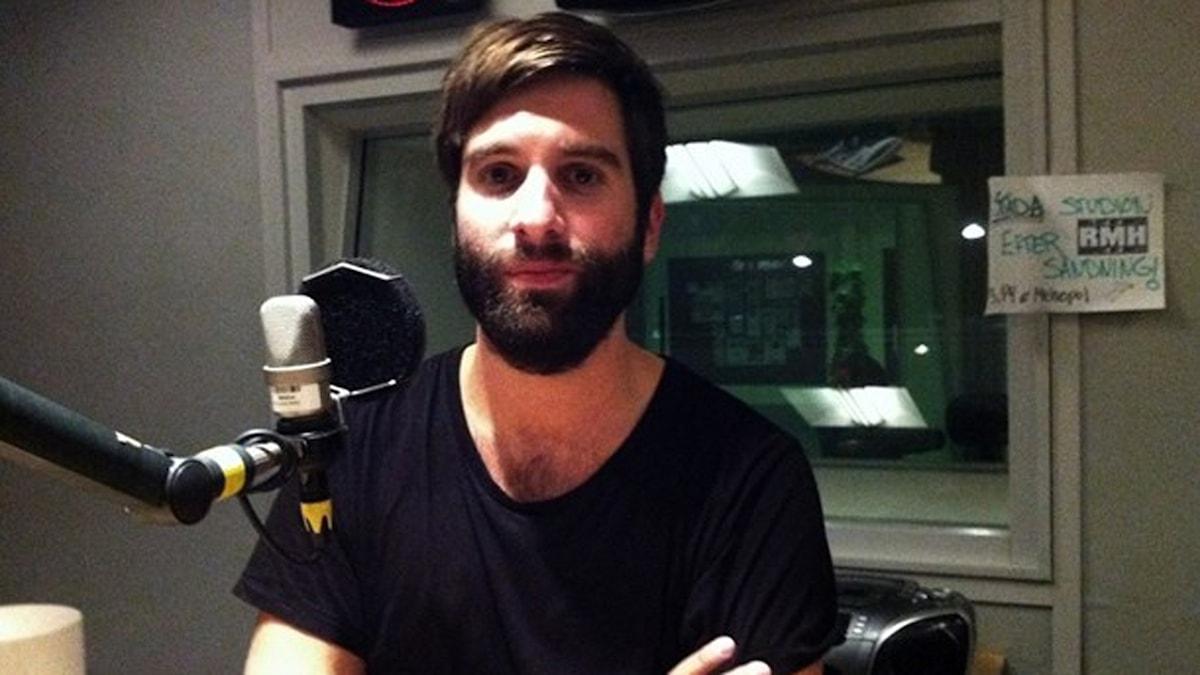 Adam Olenius i studion