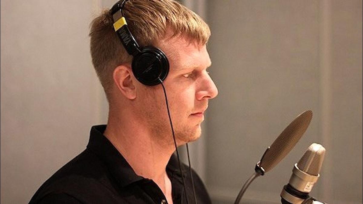 Johan T Karlsson i studion