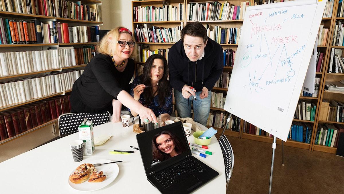 Ia Langhammer, Kerstin Gandler, Richard Forsgren och Johanna Lazcano (Foto: Mattias Ahlm/Sveriges Radio)