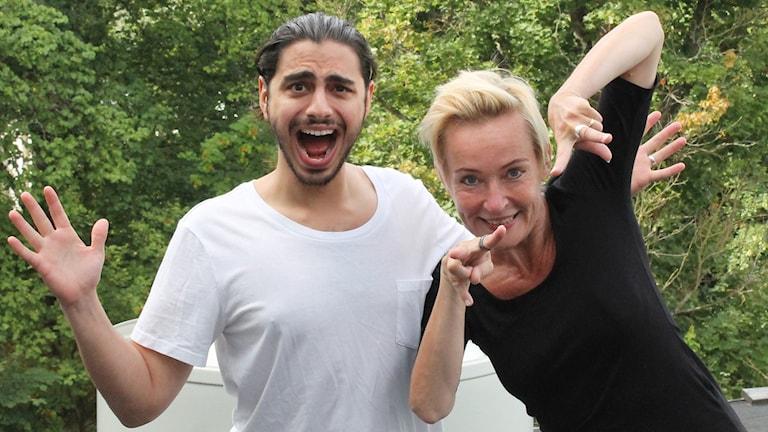 Virpi Inkeri och Ramin Farzin. Foto: Lotta Hoppu/SR