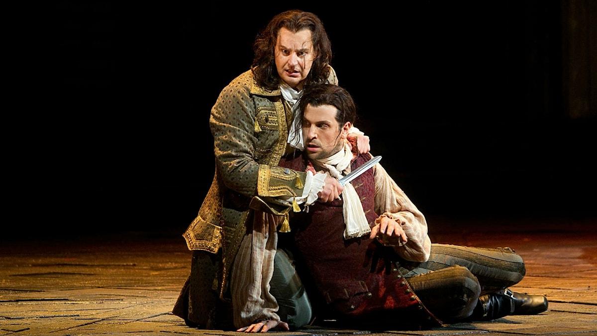 Peter Mattei och Luca Pisaroni i Don Giovanni på Metropolitan Opera i New York 2015.