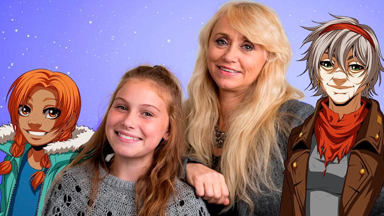 Nanne Grönvall och Lilja Östervall Lyngbrant spelar huvudrollerna i Månsaråttan, Sveriges Radios julkalender 2015. Foto: Micke Grönberg/Sveriges Radio.