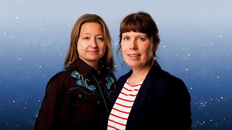Författarna Gertrud Larsson och Åsa Asptjärn. Foto: Mattias Ahlm /Sveriges Radio