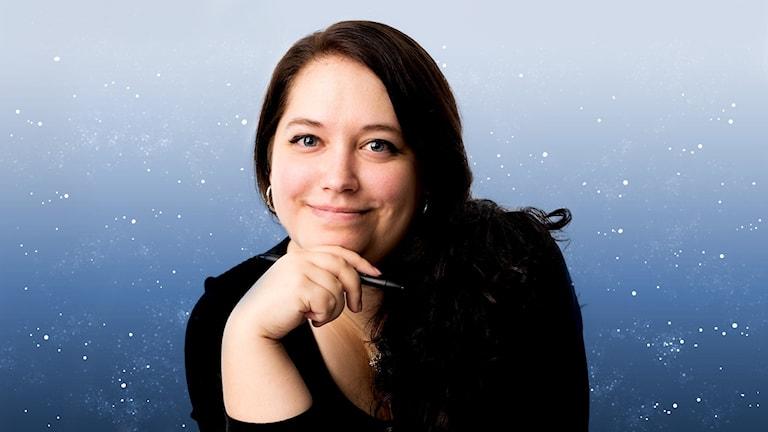 Gabrielle Nilsson, illustratör. Foto: Mattias Ahlm /Sveriges Radio.