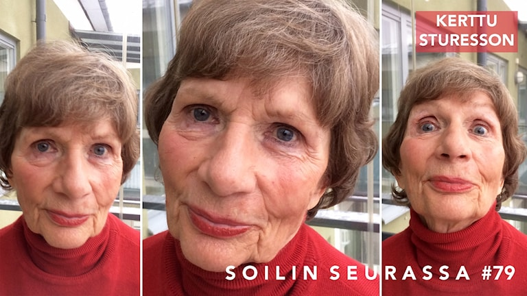 Kollaasissa kolme kuvaa Kerttu Sturessonista