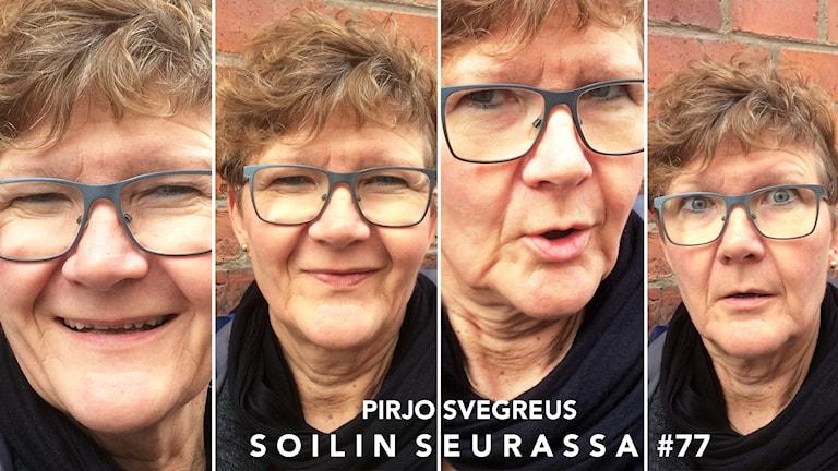 Kuvakollaasissa 4 kertaa Pirjo Svegreus