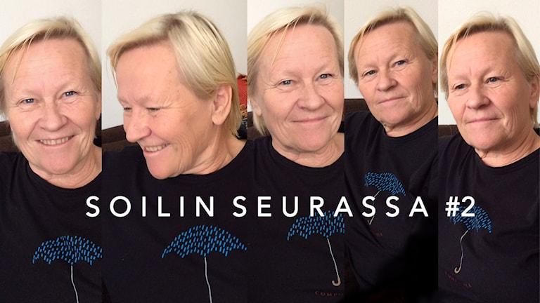 Mirja Huusko - viiden kuvan kollaasi Foto: Soili Huokuna / Sveriges Radio Sisuradio