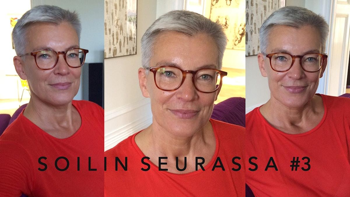 Soilin seurassa Tiina Rosenberg Foto: Soili Huokuna / Sveriges Radio Sisuradio