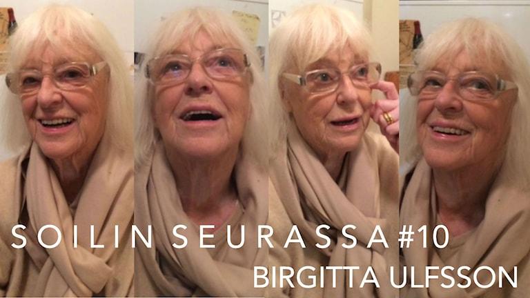Soilin seurassa Birgitta Ulfsson. Kuva: Soili Huokuna / Sveriges Radio Sisuradio