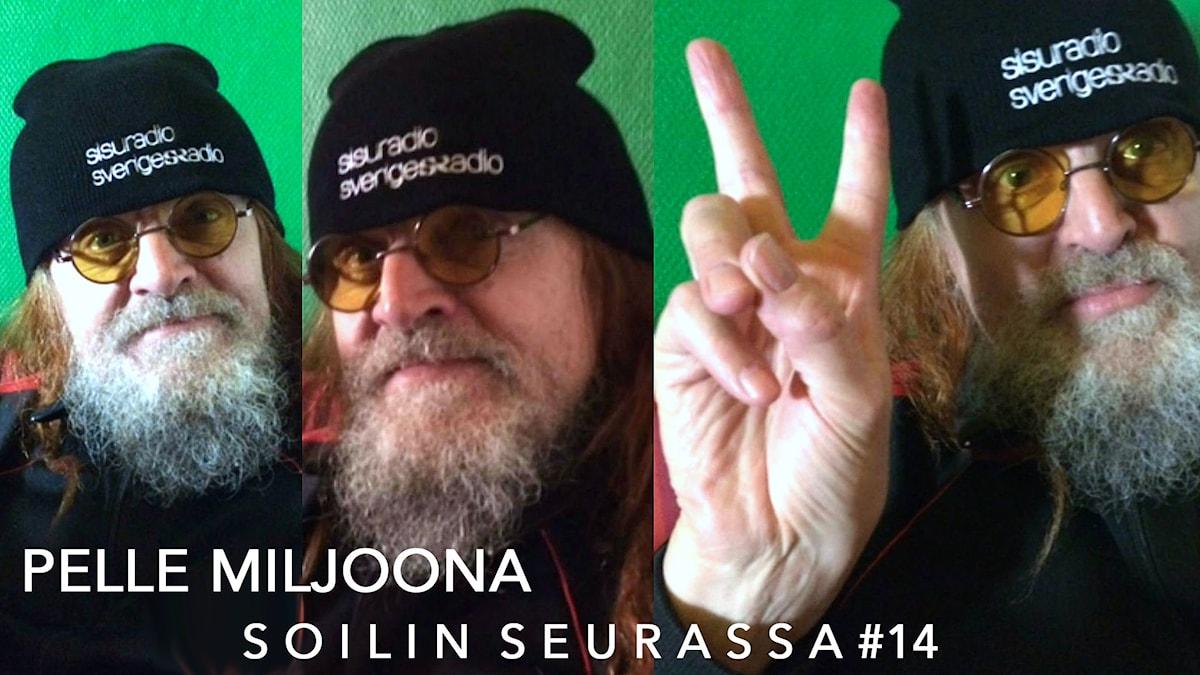 Soilin seurassa Pelle Miljoona. Kuva: Soili Huokuna / Sveriges Radio Sisuradio