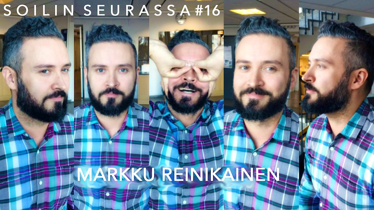 Soilin seurassa Markku Reinikainen. Kuva: Soili Huokuna.