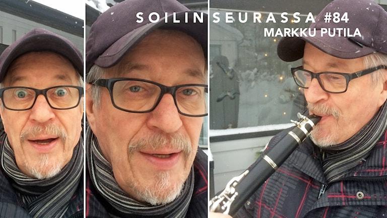 Kuvakollaasissa kolme kuvaa Markku Putilasta