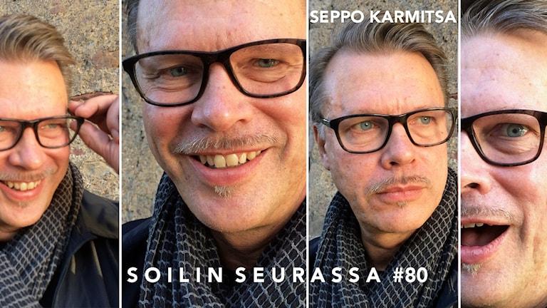 Kollaasissa 4 kuvaa Seppo Karmitsasta