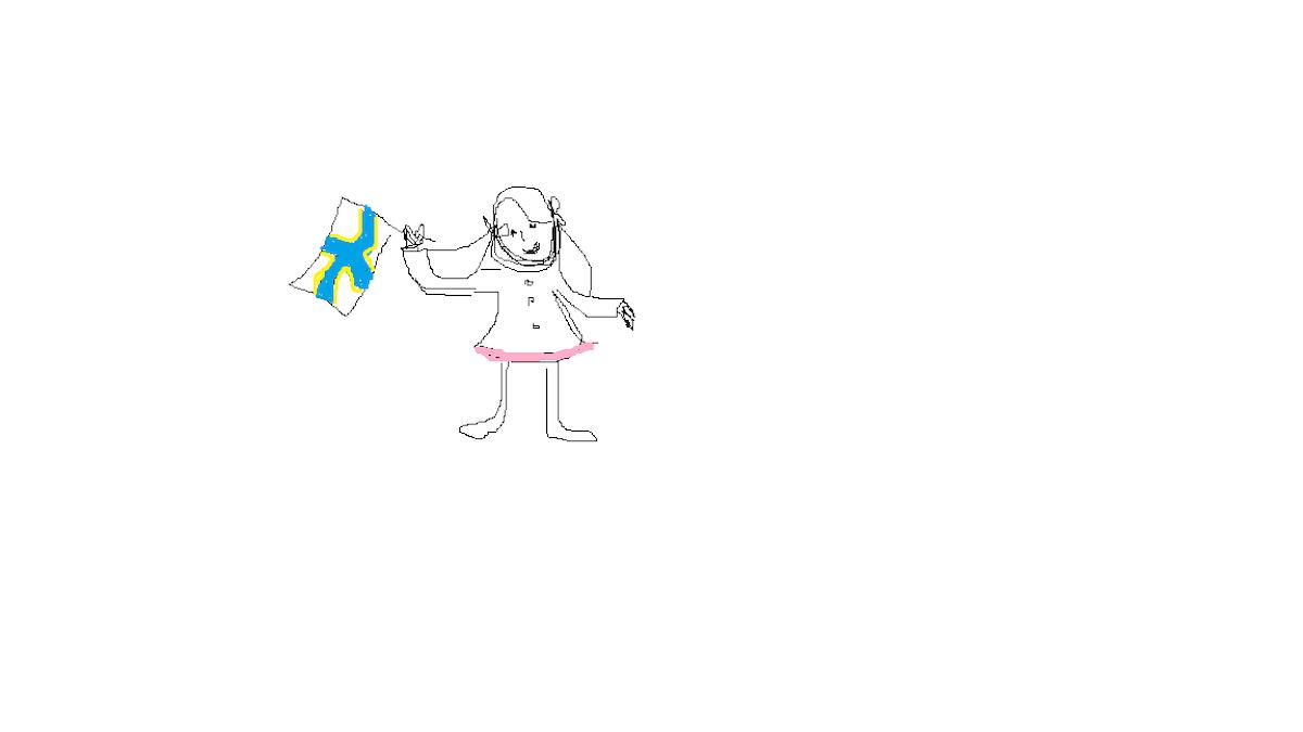 Piirretty tyttö