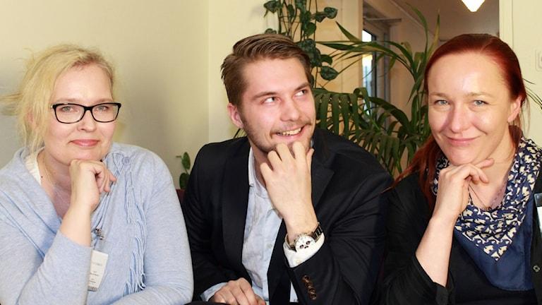 Tulevia johtajia: Maj Lis Konnos, Vivi Wendelin, Ville Lehtinen Kuva: Kirsi Blomberg Sveriges Radio