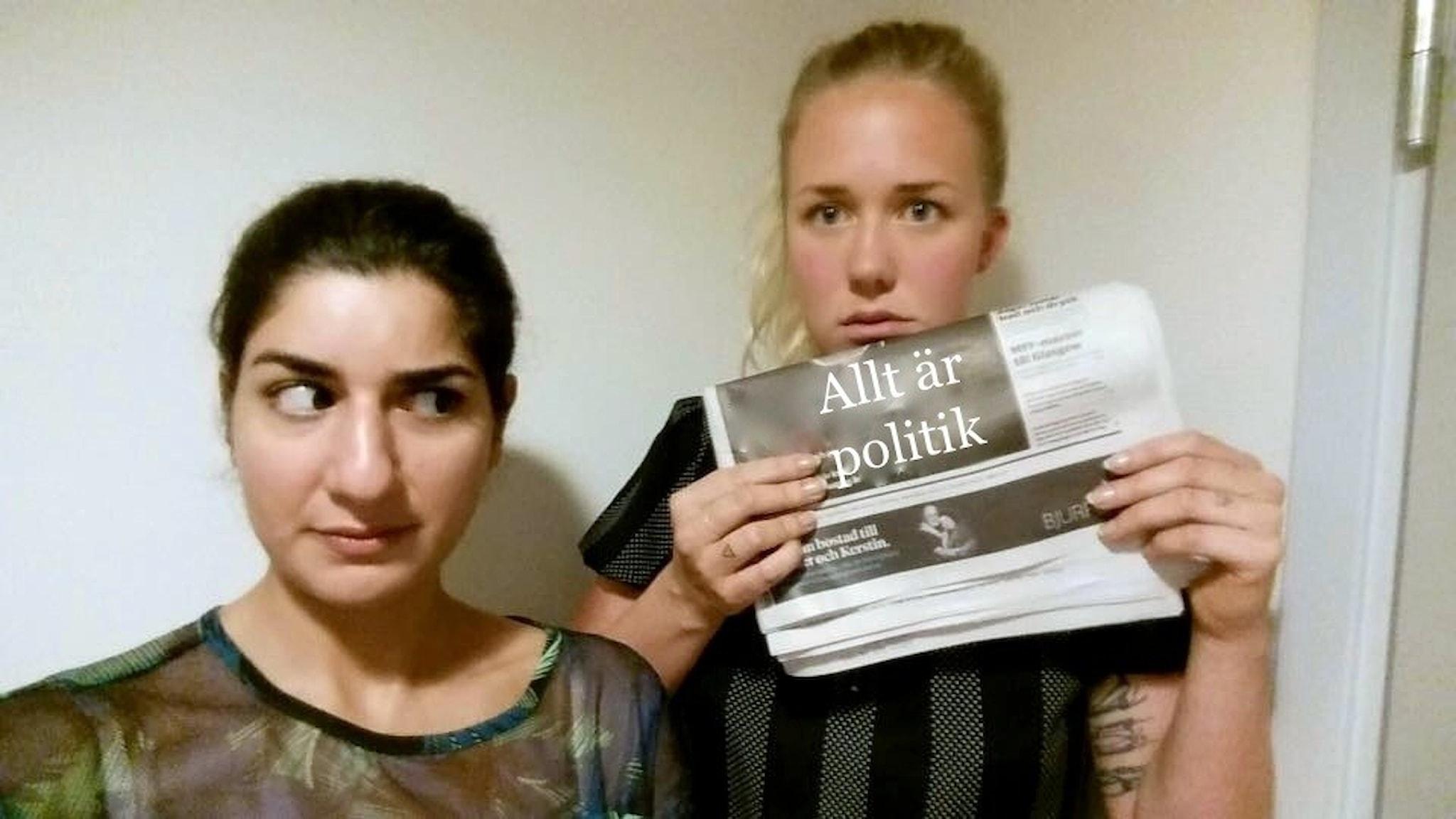 Dilan Apak och Moa Lundqvist. foto: Dilan Apak