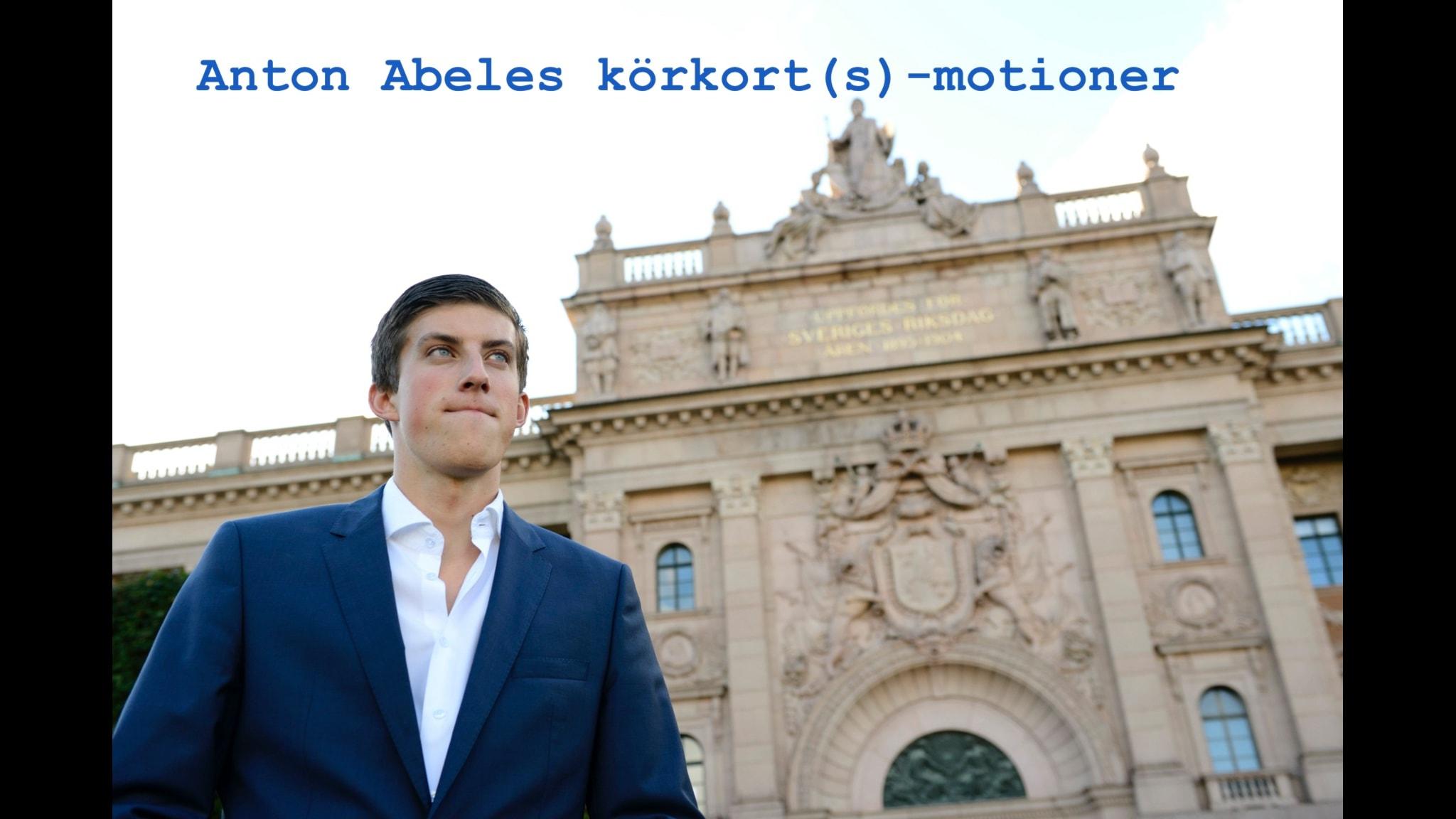 Dags för en titt på Anton Abeles motioner. foto: Henrik Montgomery / TT