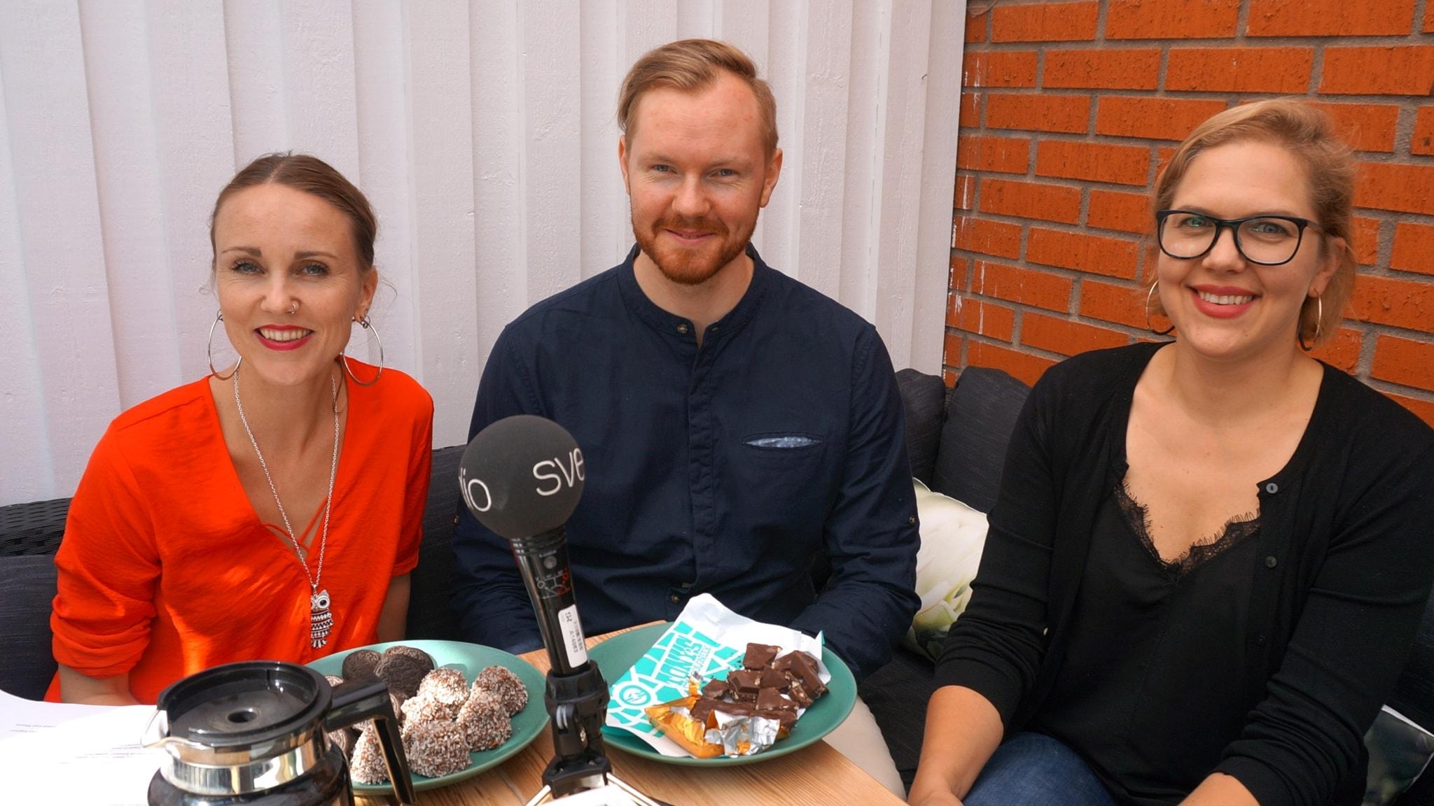 Sonja Skibdahl, Mauri Liebendörfer ja Lotta Happonen.
