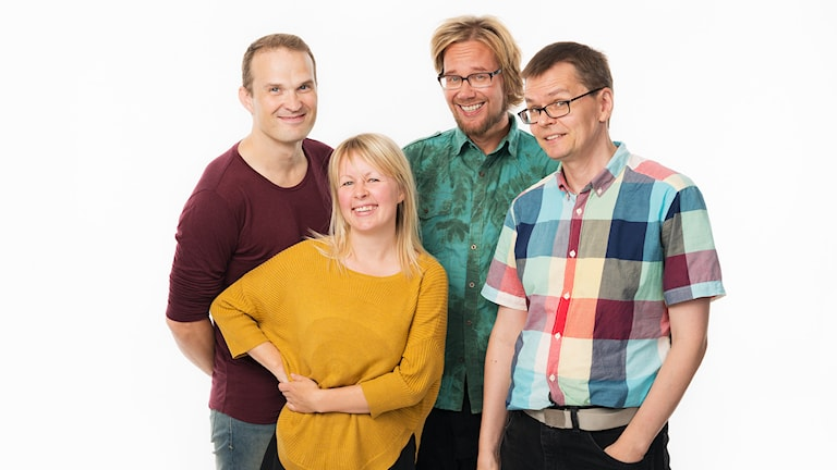 Lina Puranen, Tuomas Ojala, Erkki Kuronen, Mika Pohjola. Foto: Mattias Ahlm/Sveriges Radio