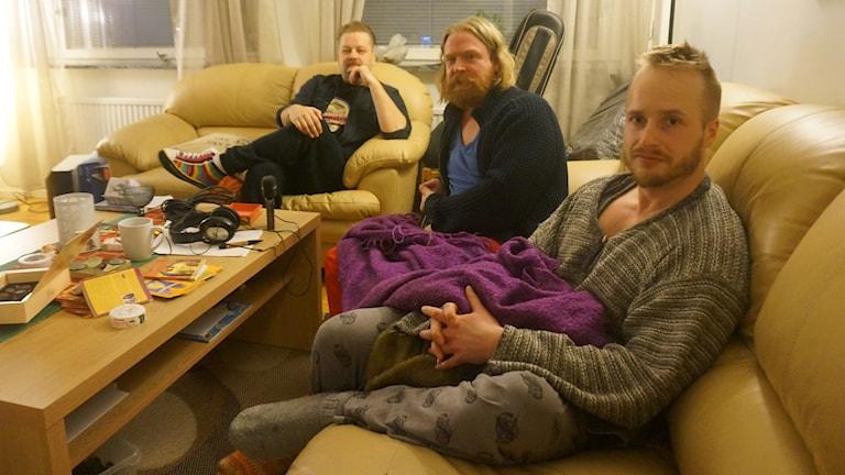 Jani Nikula, koukuttaja Adam Huuva ja Sami Bergman.