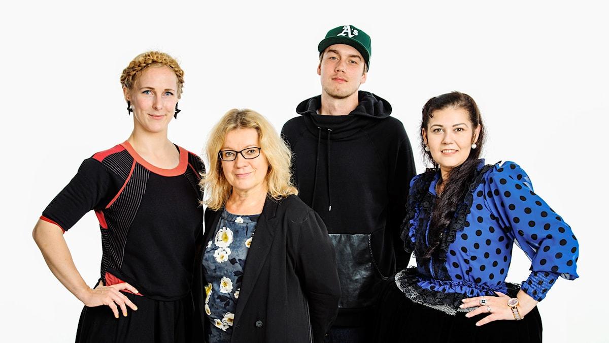 Silja Turunen, tuottaja Kirsi Blomberg, Jesse Piisinen, Tanja Lindberg Hagert