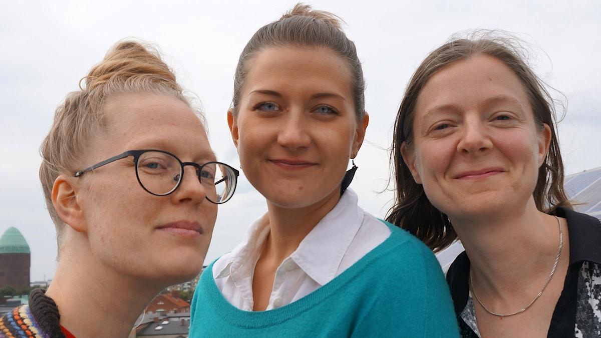 Anna Fält, Saana Kähkönen ja Hedda Heiskanen