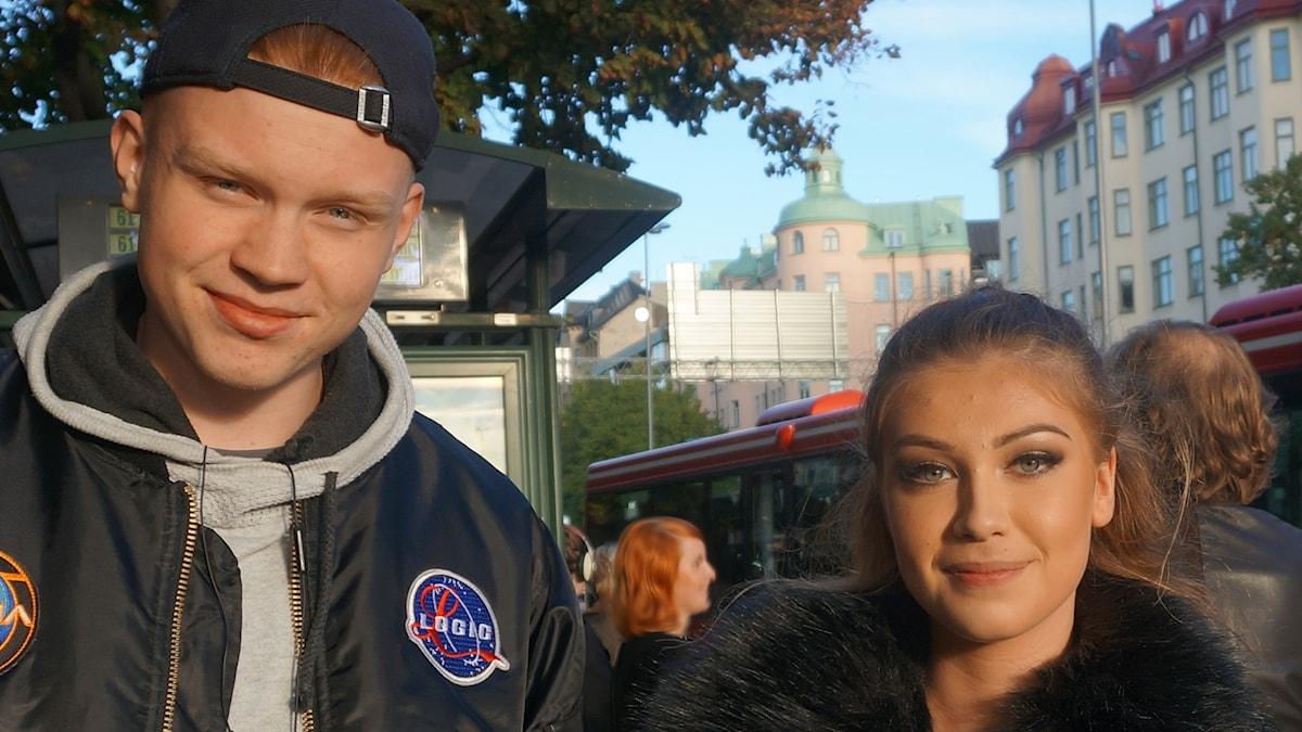 Andreas Winborg ja  Emilia Robins