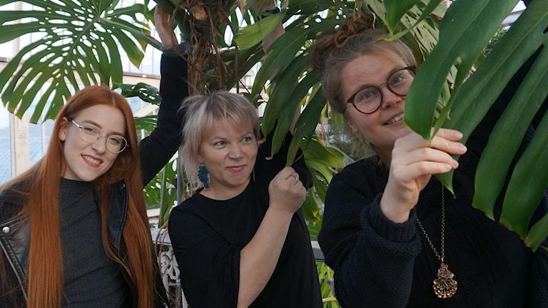 Maissi Uusitalo, Nina Wall ja Anna Martta Partio.