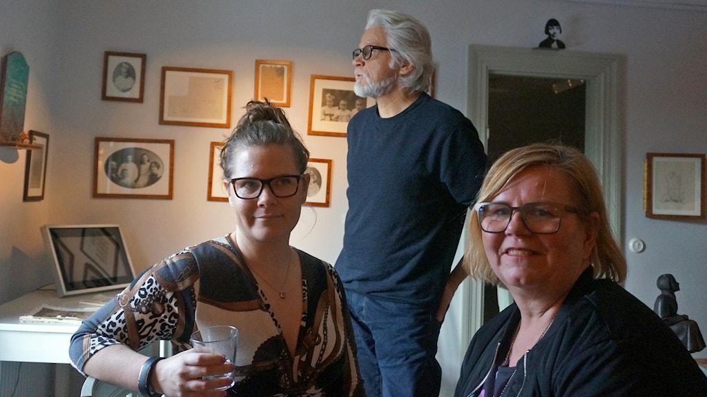 Salla Vartiainen, Markku Huovila ja Eija Vartiainen