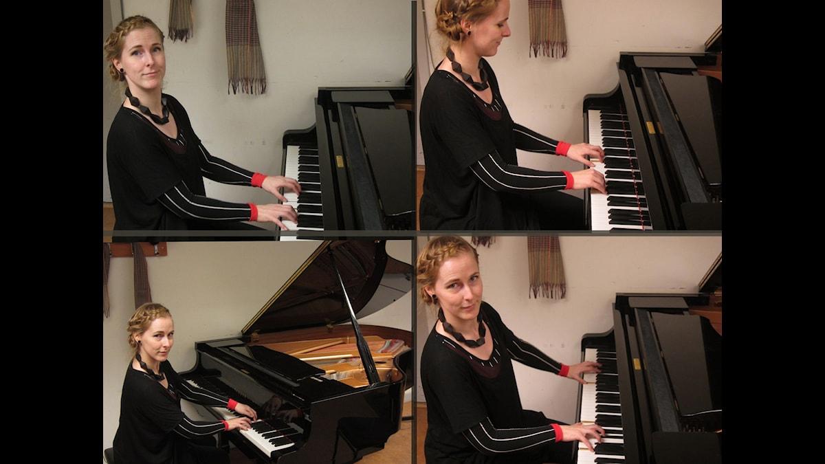 Silja Turunen pianon ääressä. Kuva. Mika Pohjola