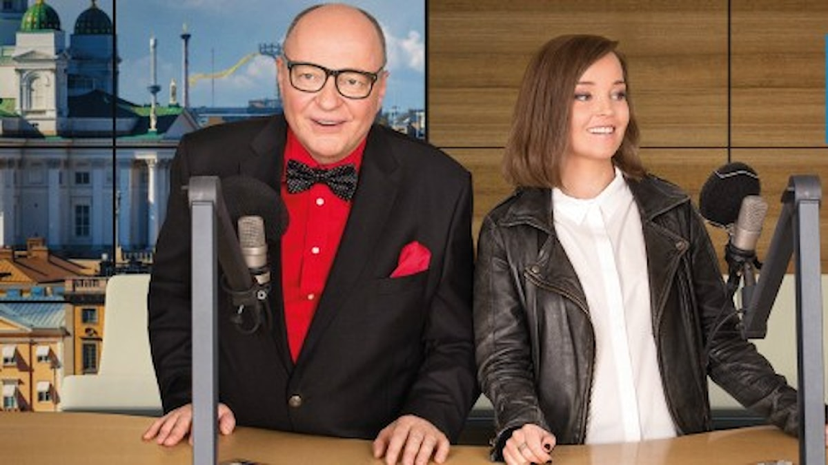 Sisuradion Iltapäivässä Jorma Ikäheimo ja Helena Huhta. Kuva/Foto: Mattias Ahlm/Sveriges Radio