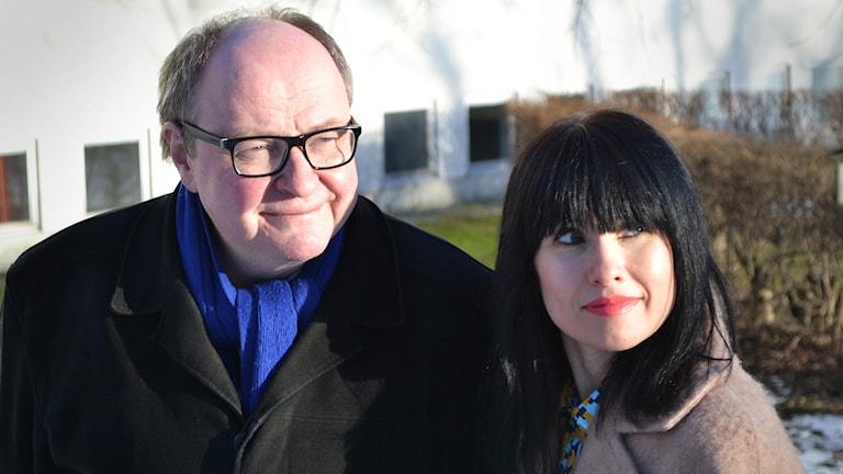 Iltapäivän juontajat Jorma Ikäheimo ja Hanna Lindberg