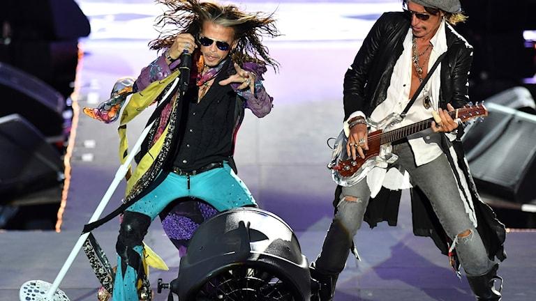 Steve Tyler och Joe Perry i gruppen Aerosmith