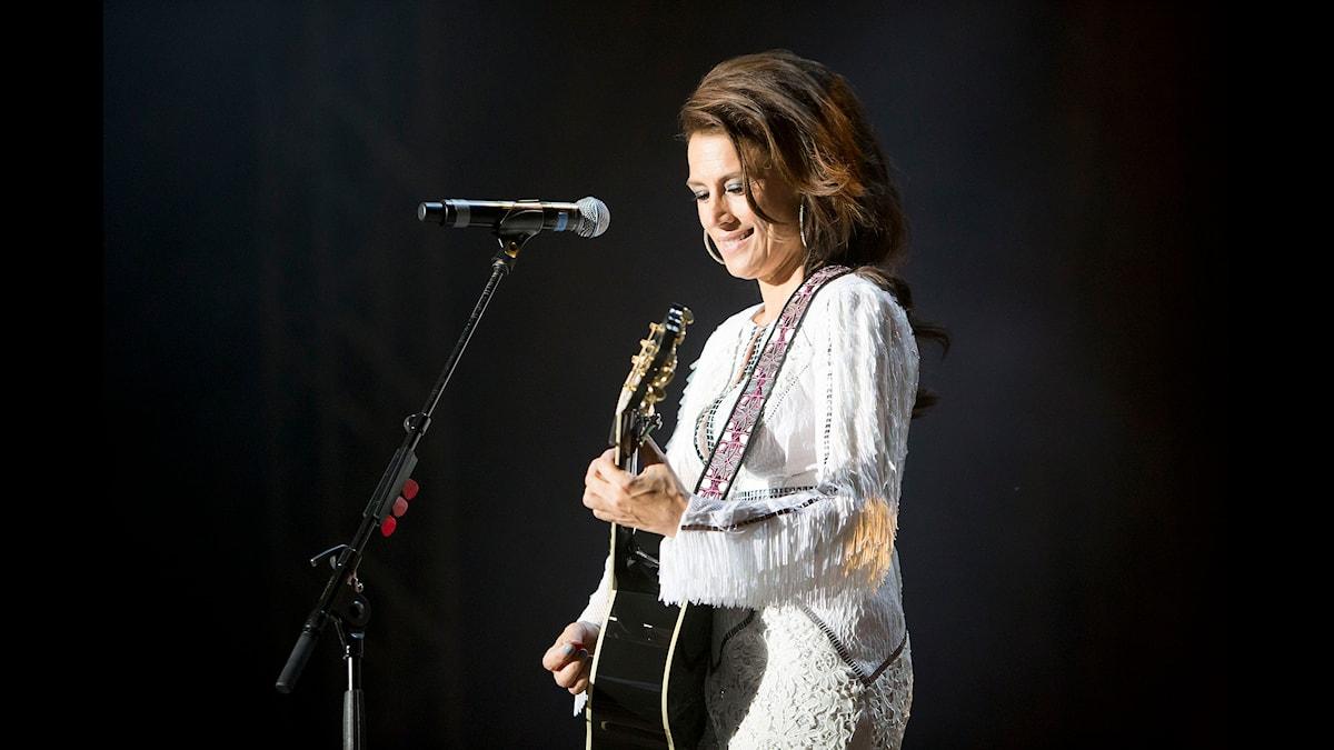 Jill Johnson vid konserten på Music & Arts Foto: Björn Dalin/SR