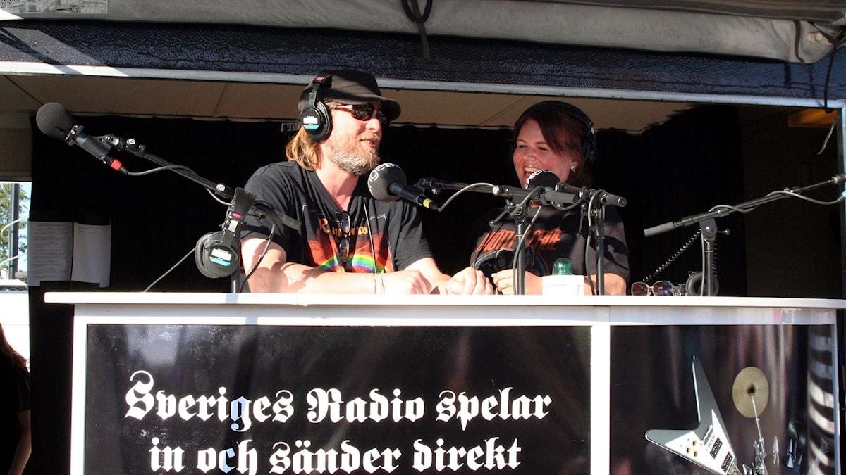 Andreas Matz och Linda Thulin sänder P4 Live Special 2015  Foto: Svante Axbacke / Sveriges Radio
