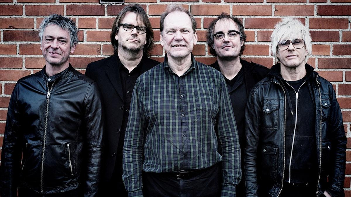 Thomas Holst, Dan Persson, Bo Åkerström, Michael Sellers och Sticky Bomb ingår i bandet Torsson. Foto: Anders Wieslander