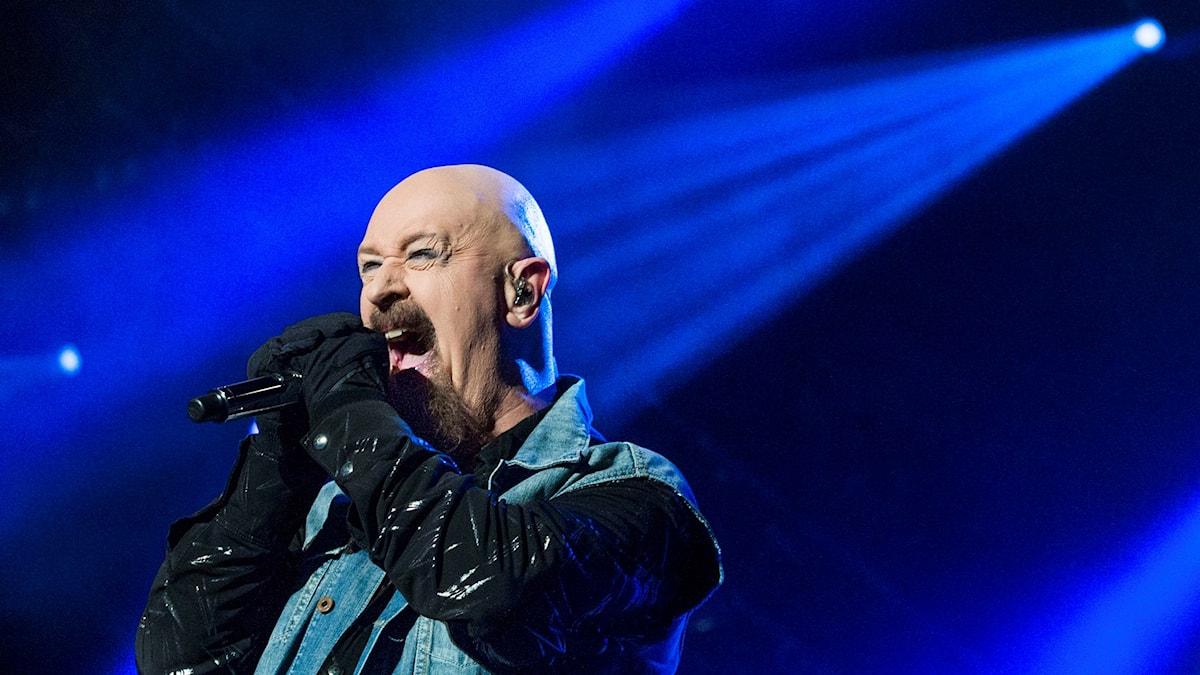 Rob Helford är frontmannen i Judas Priest. Foto: Claudio Bresciani/TT Nyhetsbyrån