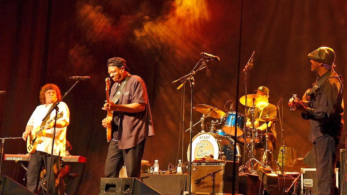 Tim Mitchell Band vid Åmåls Bluesfest 2015. Foto: Maurice Mogard/SverigesRadio