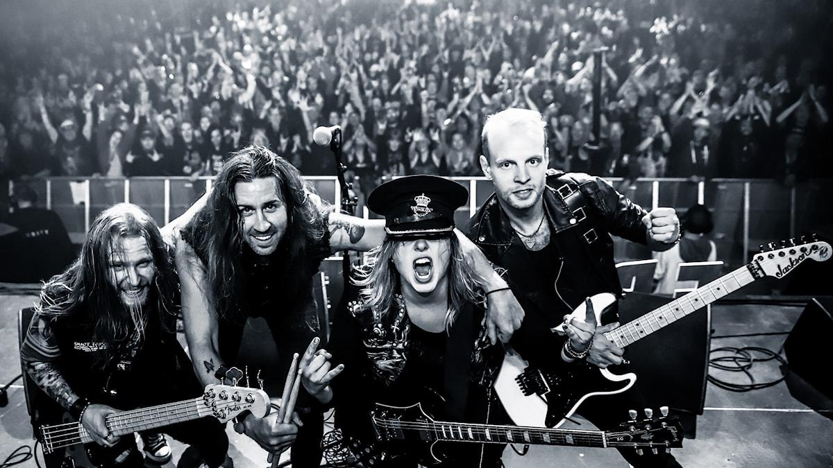 Frontback i samband med spelningen på Sweden Rock i somras.