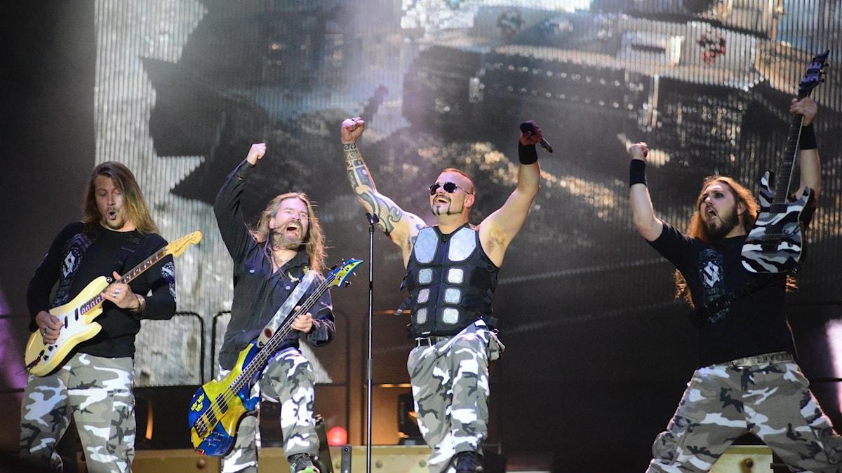 Sabaton från konserten på Sweden Rock Festival 2016