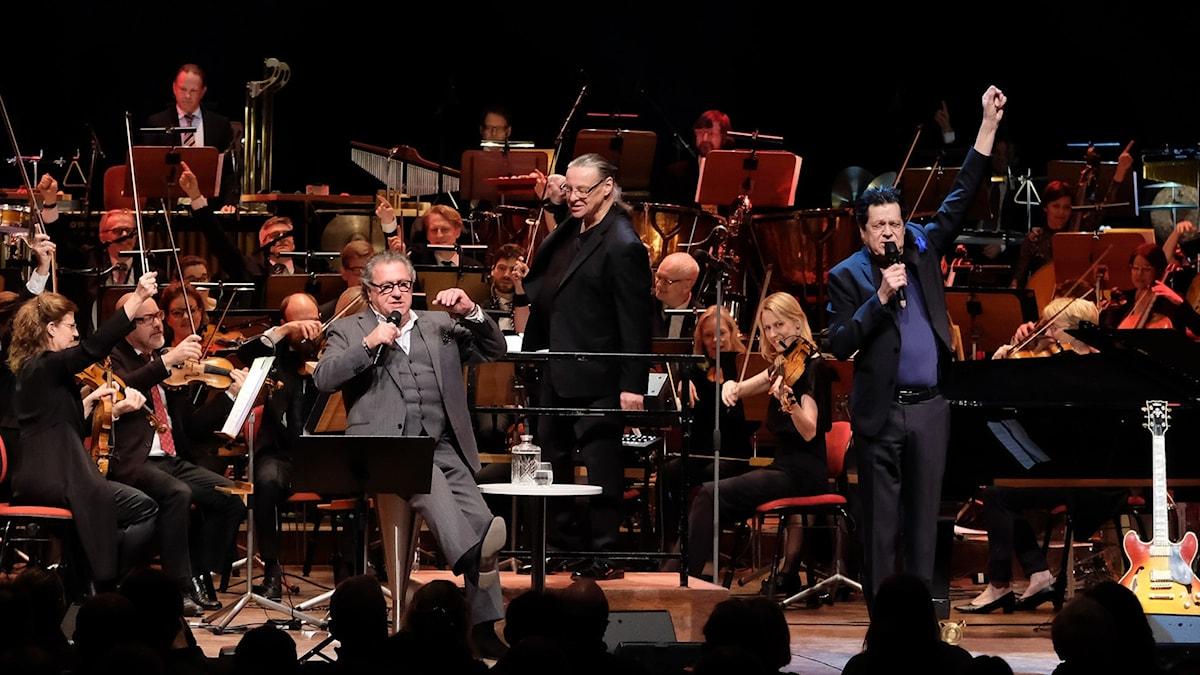 Tommy Körberg, Anders Eljas, Jojje Wadénius och Sveriges Radios Symfoniorkester