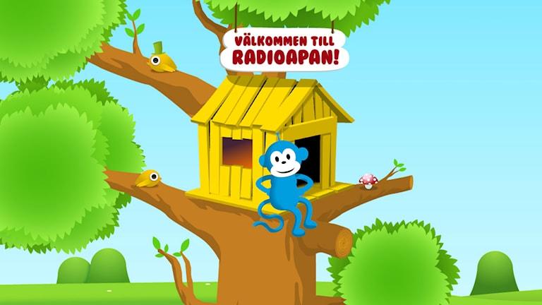 Spela, lyssna och pyssla med Radioapan. (Flashsida)