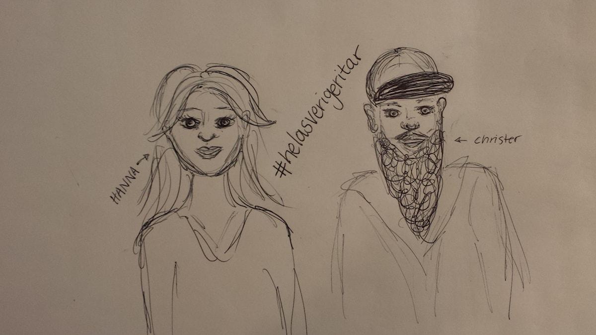 teckning av Hanna & Christer