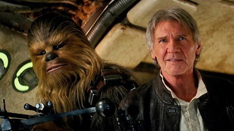 Chewbacca och Han Solo i nya filmen