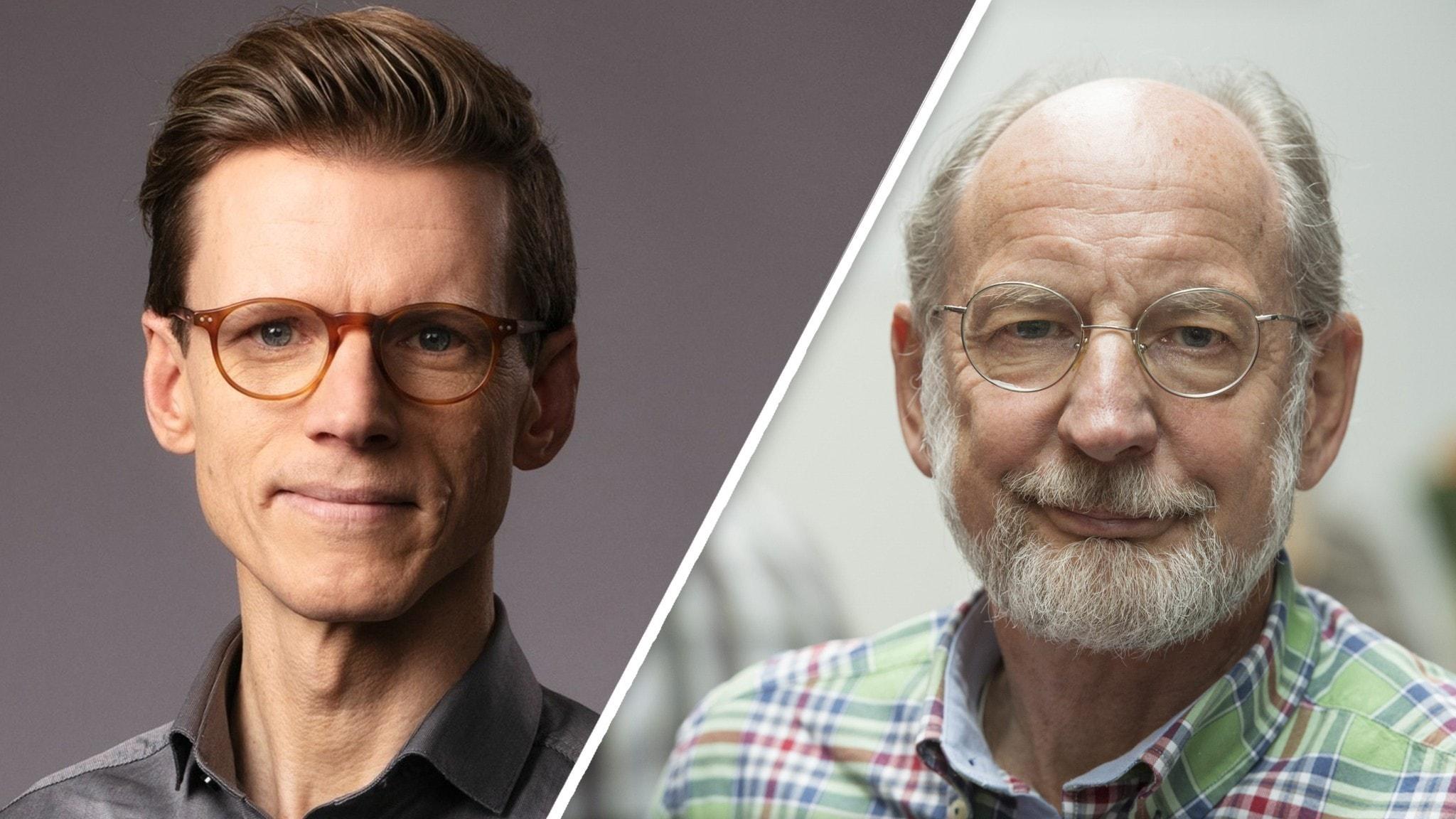 Två porträttbilder på män.