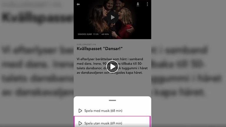 Så här hittar du Kvällspassets podd i Sveriges Radio Play