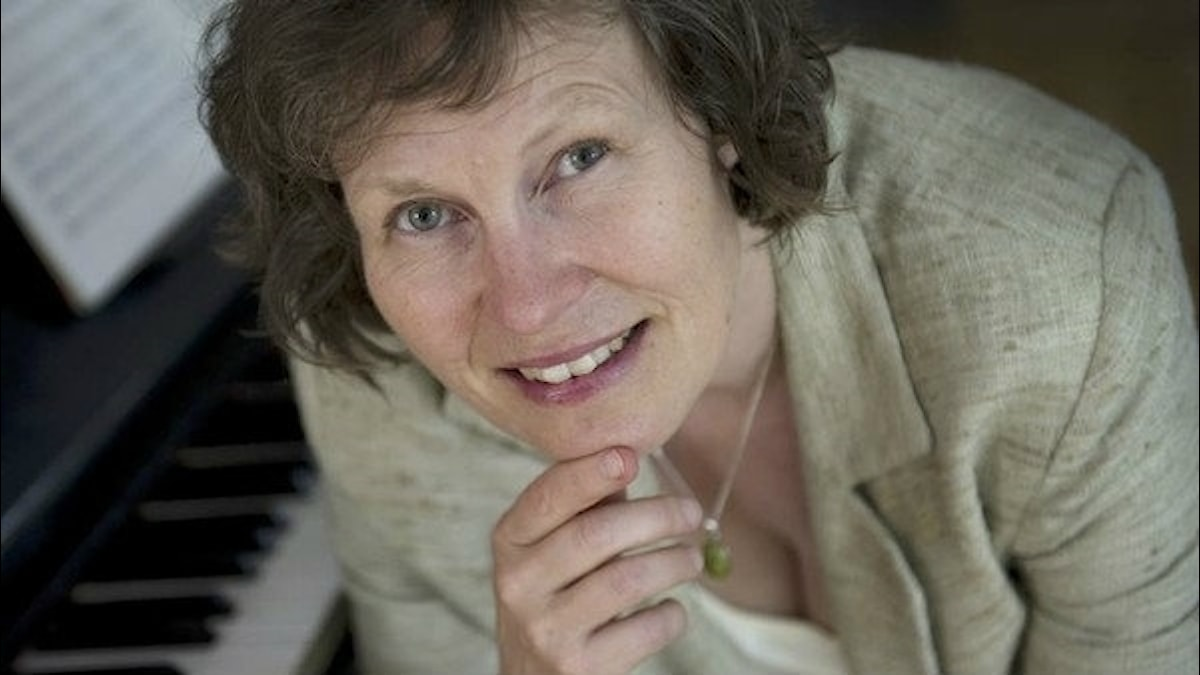 Tonsättaren Karin Rehnqvist. Foto: Fredrik Sandberg