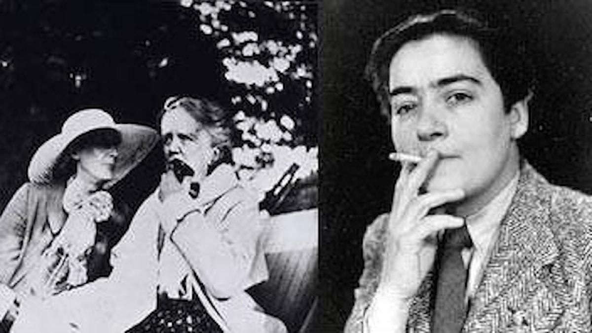 Tonsättaren Ethel Smyth blir vid 71 års ålder passionerat förälskad i författarinnan Virginia Woolf. Till höger: Holländska motståndskvinnan och orkesterdirigenten Frieda Belinfante.