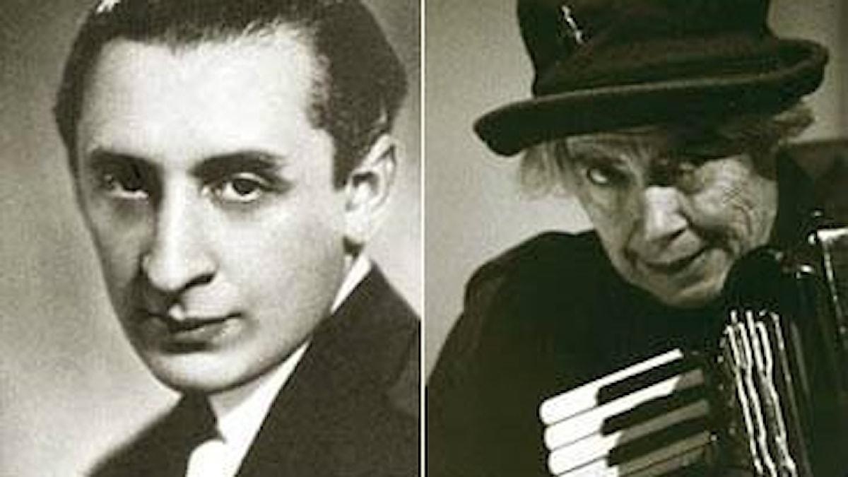 Pianisten Vladimir Horowitz och tonsättaren och accordeonisten Pauline Oliveros