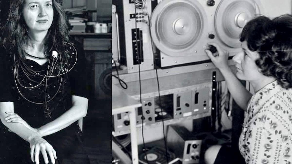 Elektroakustiska tonsättaren Birgitte Alsted. Foto: Anja Tollan. Elektronmusikpionjär en Else Marie Pade. Foto: Public Domain.